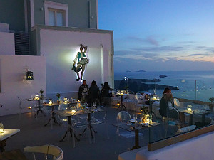 The Athenian House restaurant Santorini
