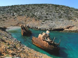 scheepswrak Griekenland Amorgos