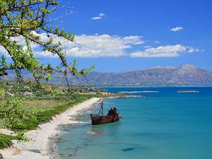 Scheepswrak Griekenland bij Gythio Peloponnesos