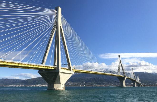 Rio-Antirrio brug Griekenland