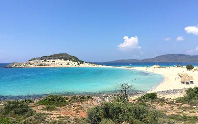 Simos beach Griekenland op eilandje Elafonisos
