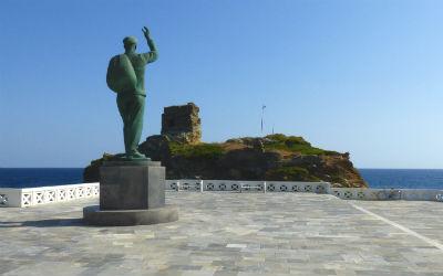 Andros standbeeld van de zeiler