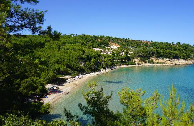 Chrisi Milia beach op Alonissos