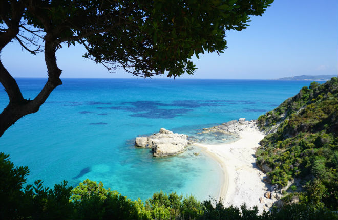 Little Xigia beach op Zakynthos