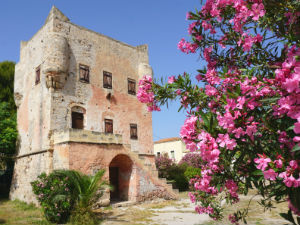 Aegina stad de Markellos toren