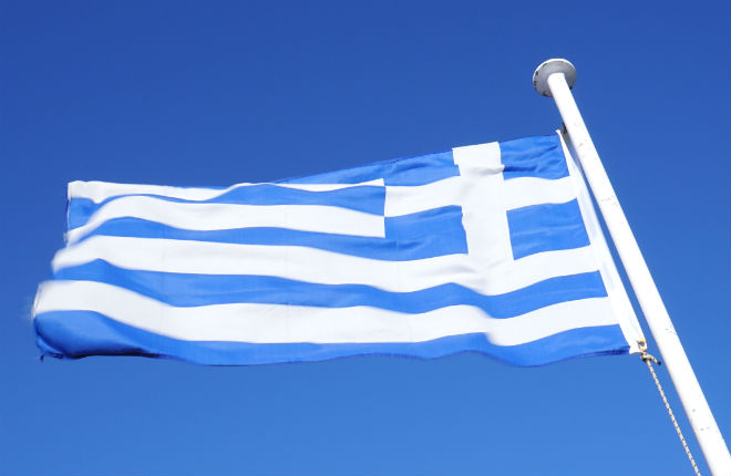 Griekse vlag is de vlag van Griekenland