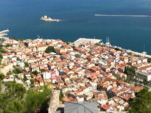 Nafplion uitzicht vanaf Palamidi
