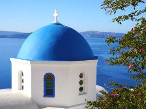 Kerk in Oia op Santorini
