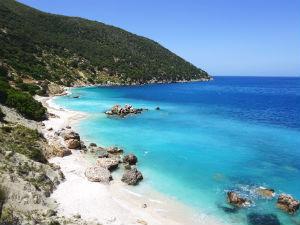 Ionische eilanden eilandhoppen strand Kefalonia