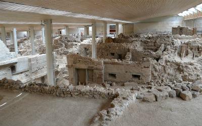 Nieuwe vondsten Akrotiri op Santorini