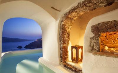Beste luxe boutique hotel ter wereld op Santorini