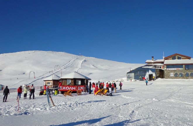 Ski resorts in Griekenland geopend