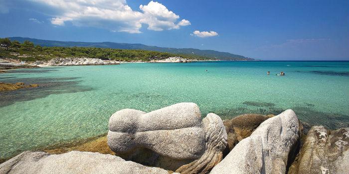 Kavourotrypes bij 7 mooiste stranden van Chalkidiki