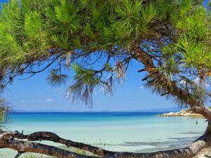 Vouvourou beach bij 7 mooiste stranden van Chalkidiki
