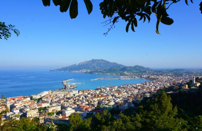 Bohali uitzicht op Zakynthos-stad