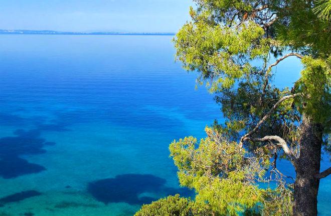 Het klimaat en weer op Chalkidiki in Griekenland