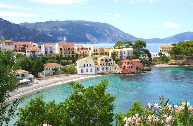 Het klimaat en weer op Kefalonia in Griekenland