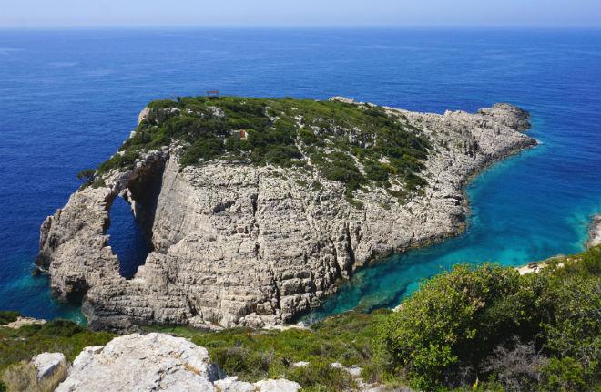 Korakonisi eiland Zakynthos