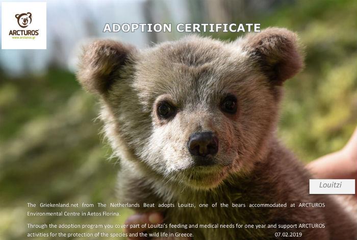 Griekenland.net adopteert zes beren van Arcturos
