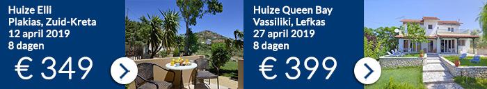 Griekenland vakantie aanbiedingen Ross Holidays voor april 2019