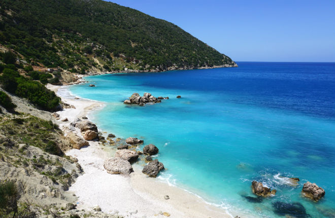 Vouti beach op Kefalonia