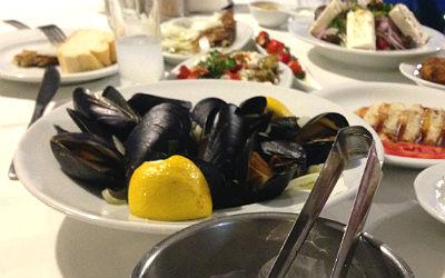 Eten en drinken in Griekenland mosselen