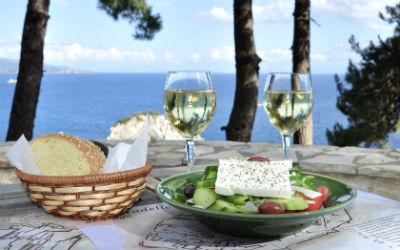 Griekse salade van groente