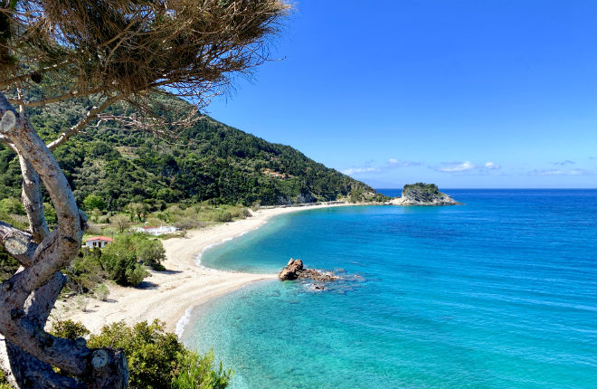 Potami beach op Samos