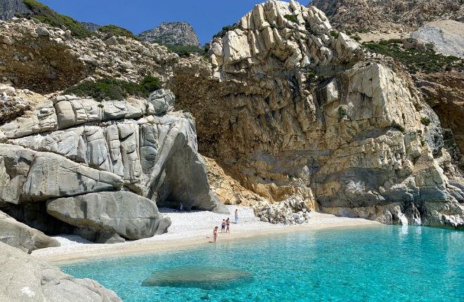 Seychelles beach op Ikaria