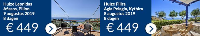Griekenland vakantie aanbiedingen augustus 2019
