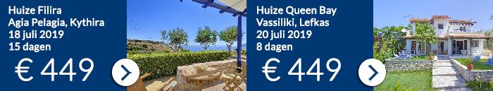 Griekenland aanbiedingen van Ross Holidays in juli 2019