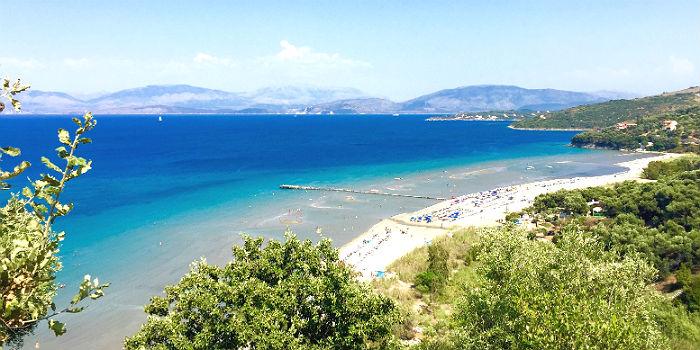 Kinderen op vakantie naar Corfu