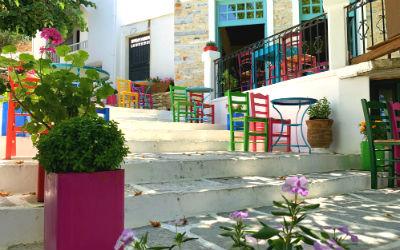 Naxos het bergdorp Filoti
