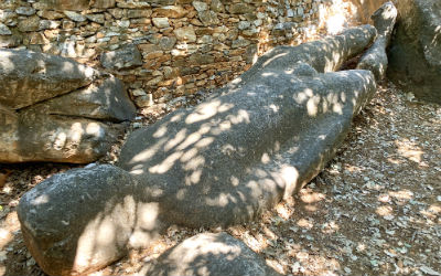 Naxos het Kouros beeld in Melanes