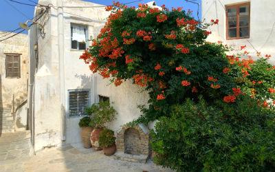 Naxos stad het oude gedeelte