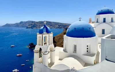 Wandelen in Oia op Santorini