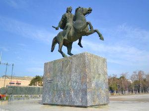 Alexander de Grote beeld in Thessaloniki