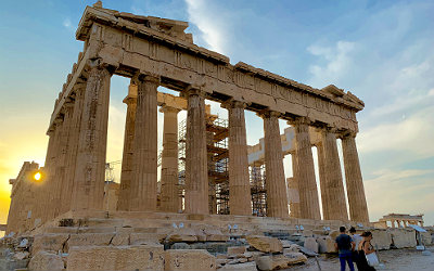 Combineer Athene en Kythira de Akropolis