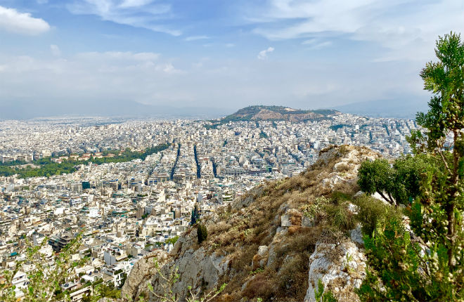 Lycabettus hill in Athene