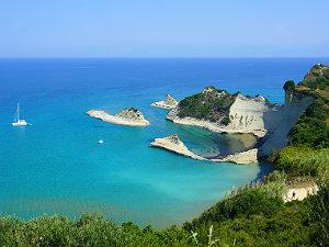 Corfu Cape Drastis uitzicht