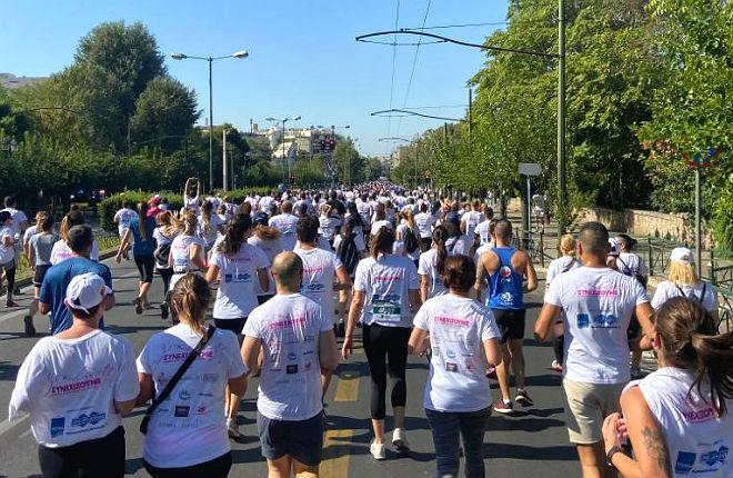 Marathon in Athene voor het goede doel