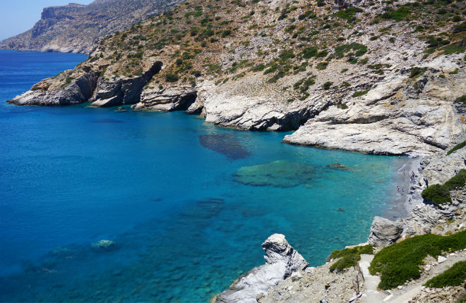 Mouros beach op het Griekse eiland Amorgos