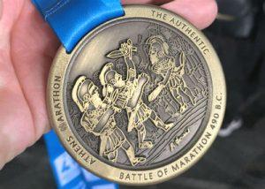 Medaille Marathon Athene 2019