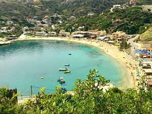 Ligaria beach bij Agia Pelagia