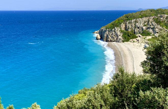 Tsambou beach op Samos