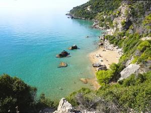 Corfu het strand van Myrtiotissa beach