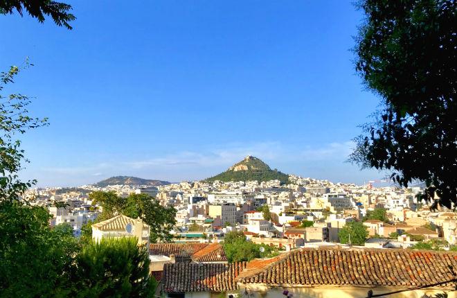 Athene het klimaat en weer