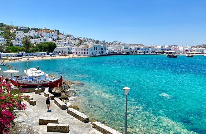Op vakantie naar het eiland Mykonos