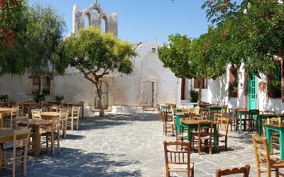 Pleintje in Chora op Folegandros