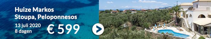 Griekenland vakantie aanbiedingen juli 2020